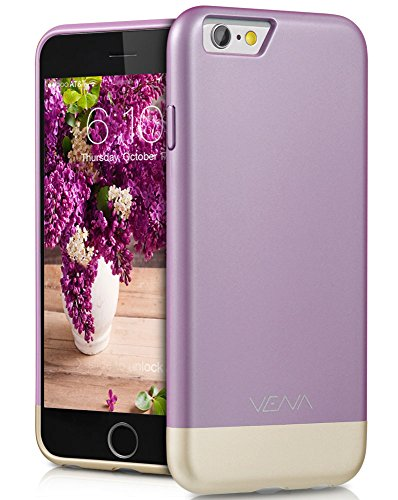 iPhone 6S Case, VENA [iSlide] Dock-Friendly Slim Fit Hard PolyCarbonate Case for Apple iPhone 6S (2015) / iPhone 6 (2014) - Lavender / Champagne Gold Lavender Purple Iphone