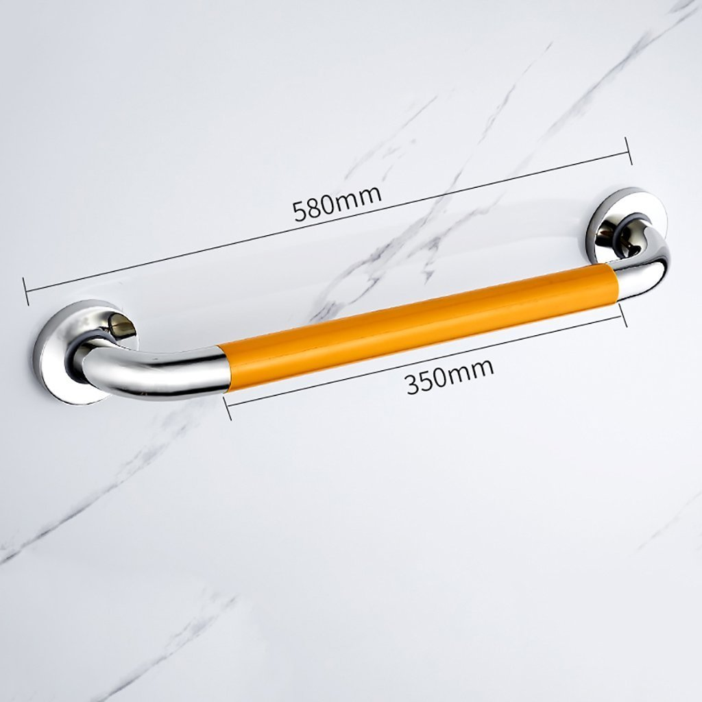 YAOHAOHAO Bathroom hand rails in stainless steel barrier-free bath rooms, the elderly slip-resistant handle thickness TOILET hand shower rails safety bars (Size: 48 cm).