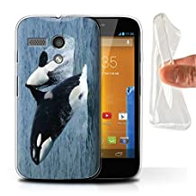 STUFF4 Gel TPU Phone Case / Cover for Motorola MOTO G (2013) / Orca/Killer Whale Design / Marine Wildlife Collection