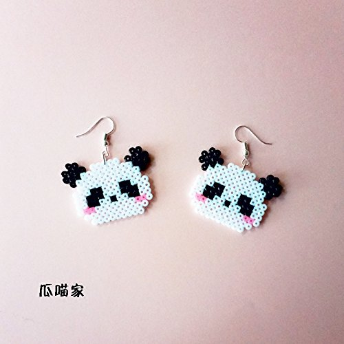 Meow hand of melon fight for pixel mosaic beans taste soft sister Meng Deparent of cute das 925 silver earrings ear clip