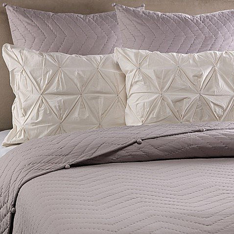 Real Simple Jules Standard Quilted Pillow Sham in Mink