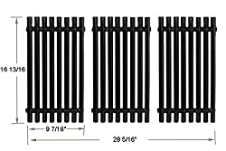 Bbq Funland Gp0193 Porcelain Steel Channel Cooking Grid Replacement For Gas Grill Model Charbroil 463440109 Sold As A Set Of 3