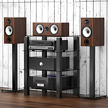 Amazon.com: Fitueyes 4-tier Media Component Stand Audio Cabinet ...