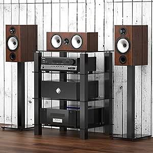 FITUEYES Mueble HiFi para Equipo de Música Mueble Auxiliar TV con ...
