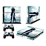 FINAL FANTASY 7 CLOUD STYLISH DESIGN FOR SONY PS4 AND CONTROLLER