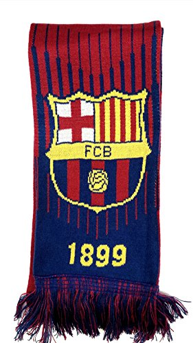 (FC Barcelona soccer team official double sided scarf)