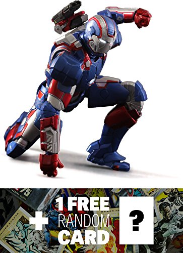 Iron Patriot: Play Imaginative Super Alloy x Iron Man 1/12th Scale Action Figure + 1 FREE Official Marvel Trading Card Bundle (Super Alloy Iron compare prices)