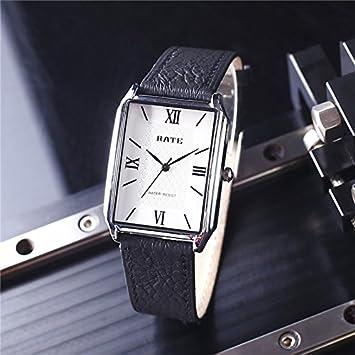 HL-PYL Relojes Rectangulares Impermeable Moda Nueva Edición Coreana Simple,B