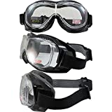 Global Vision Eyewear Mach-1 Anti-Fog Goggles, Clear Lens
