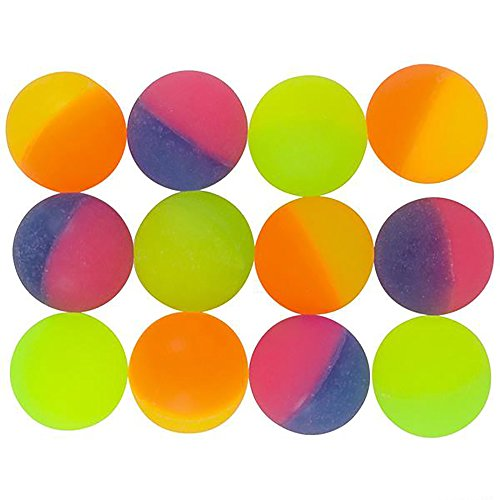 Kicko ICY Ball 32mm 1.25 Inch - High Bounce ICY Ball 12 Pack - Assorted ICY Ball - Small Game - Bounce High Toys Balls
