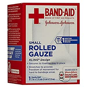 Band-Aid First Aid Covers Kling Rolled Gauze, Small 1 ea Pack of 2