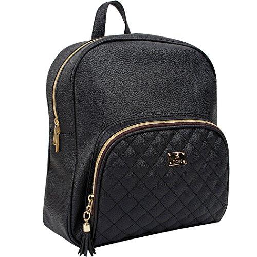 Copi Women's School Backpack One Size Beige Black