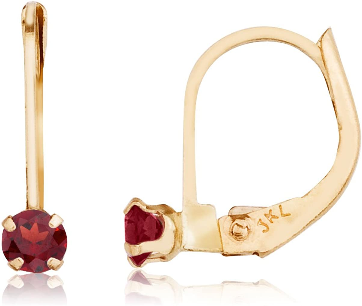 14k Petite Garnet Leverback Large special price !! online shopping Earrings