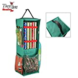 Tiny Tim Totes 83-DT5572 5709 Four Sided | Premium Hanging Gift Wrap and Bag Organizer