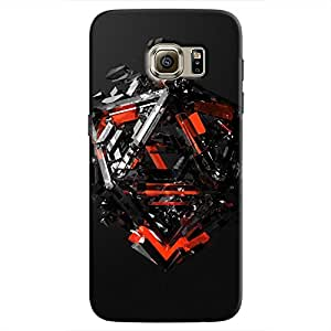 Cover It Up - Triangle Dissolution Red Galaxy S7 Edge Hard Case