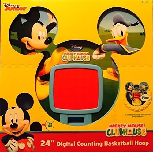 MICKEY MOUSE CLUBHOUSE 24 inch digital counting basketball hoop mickey mouse