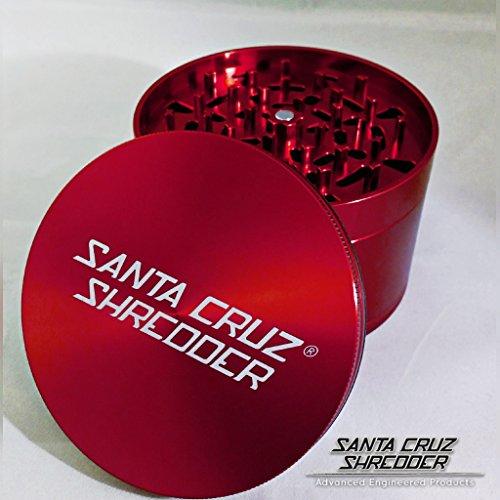 Santa Cruz Shredder Jumbo 4 PC Grinder (Red)