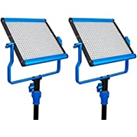 Dracast S Series Daylight LED500 Video Panel 2-Light Kit, Blue (DRASP-LK-2X500DN)