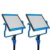 Dracast S Series Bi-Color LED500 Video Panel 2-Light Kit, Blue (DRASP-LK-2X500BN)