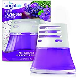 Bright Air Scented Oil Air Freshener and Diffuser, Sweet Lavender and Violet Scent, 2.5 Ounces