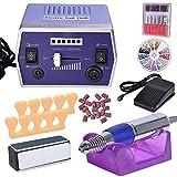 GHP Hyacinthine 15W Electric Nail File Drill Machine Kit w Purple Handpiece Cradle