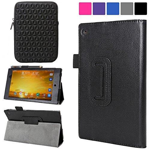 Evecase ASUS Memo Pad 7 ME572C / ME572CL Case, SlimBook Leather