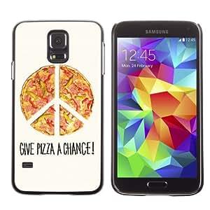 iKiki-Tech Estuche rígido para Samsung Galaxy S5 - Cool Pizza Piece Illustration