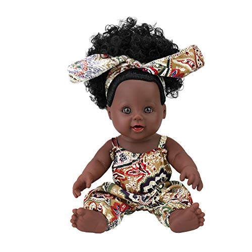 TUSALMO 2018 Newest 12 inch Toy Baby Black Dolls for Kids and Girl, Kids Holiday and Birthday Gift -