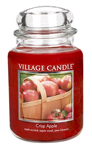 Pear Scented Glass (Village Candle Crisp Apple 26 oz Glass Jar Scented Candle, Large)