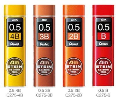 Pentel Ain Stein 160 Minas (4 Tubos) 0.5mm B 2B 3B 4B