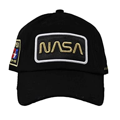 e3ab3ec190a91 FIELD GRADE Skylab NASA Hat Special Edition Patch (Black Gold Worm  Distressed)