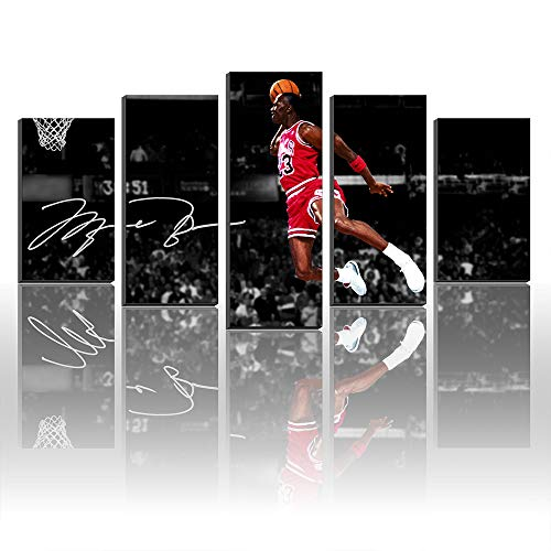 - Karen Max Unique Created Wall Art Canvas Pictures for Living Room Home Decor Michael Jordan Wings 10 Autographed Poster Print Canvas Painting New Home Gifts Frameless