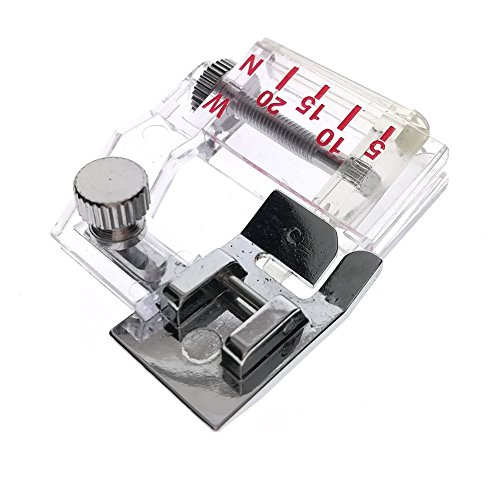 YOFAN Snap-on Adjustable Bias Binder Foot for Brother Singer Janome Sewing Machine, Adjustable Range from 5mm to 20mm