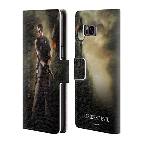 Official Resident Evil Leon S. Kennedy Operation Raccoon City 2 Leather Book Wallet Case Cover for Samsung Galaxy S8+ / S8 Plus (Resident Evil Operation Raccoon City Best Character)