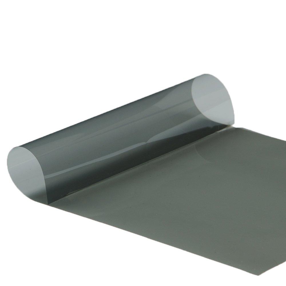 HOHO Film solaire nano céramique teinté noir de 4mm, TLV 35%, pour fenêtre sans tain auto et bâtiments, 50,8x 152,4cm TLV 35% pour fenêtre sans tain auto et bâtiments 8x 152 4cm
