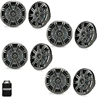 Kicker 6.5 Charcoal Marine Speakers (QTY 8) 4 pairs of OEM replacement speakers