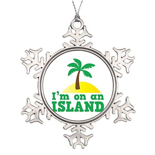 Isola Island (Memy Isole Xmas Trees Decorated I'm on an island Small Christmas)