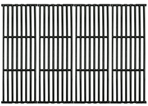 (Music City Metals 66024 - Set of 4 - Gloss Cast Iron Cooking Grid Replacement for Gas Grills by Broil-Mate, Broil King, Huntington and)