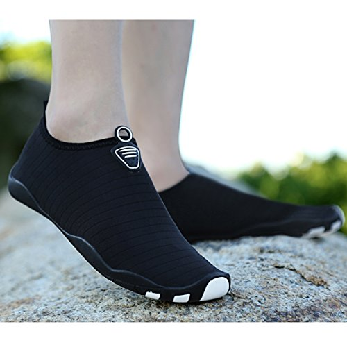 Mesh L Casual Shoes RUN Pure Outdoor Wading Heeled Flat Sports Unisex Mutifunctional Black Breathable xqq8arnzUw