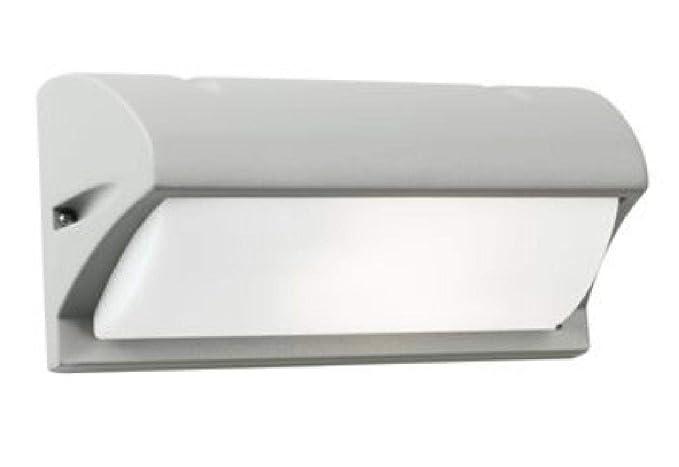 Lampada applique con visiera colore alluminio per esterno linea