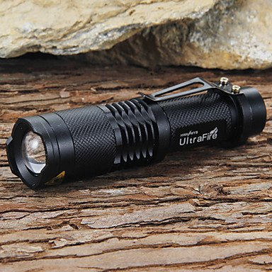 QHY UltraFire SK98 Adjustable Focus5-Mode 1xCree XM-L T6 LED Flashlights(1x18650,1200LM,Black) , Black
