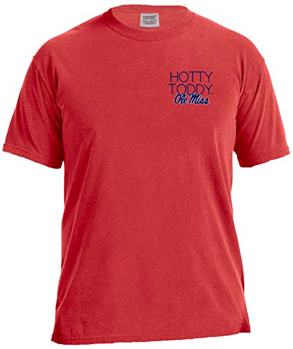 NCAA Mississippi Old Miss Rebels Women's Laces & Bows Color Short Sleeve T-Shirt, Large,Red (Mississippi Rebels Ncaa Tee)