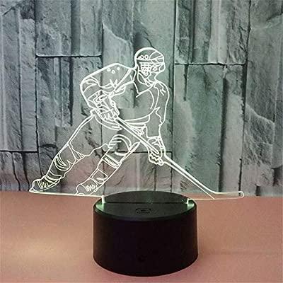 PDDXBB Jugador De Hockey sobre Hielo Modelo Luz Nocturna 3D ...