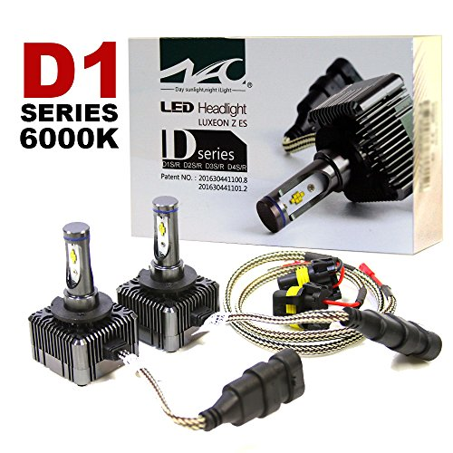 D1S D1R LED Headlight Conversion Kit 72W 6000K, 7600LM Bright White Light Replacement Bulbs