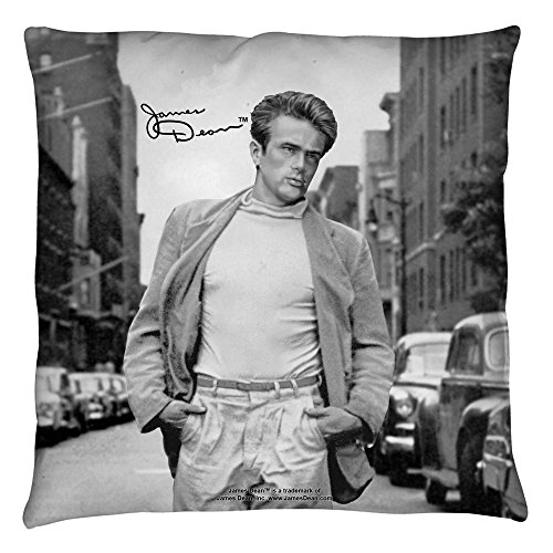James Dean Walk Throw Pillow White 18X18