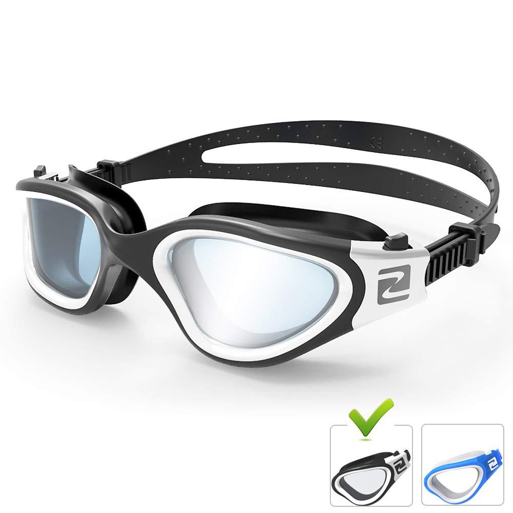UV-Schutz auch f/ür Kinder 8+ Jahren und Jugendliche geeignet wasserdicht Anti-Beschlag Erwachsene Unisex ZABERT Schwimmbrille