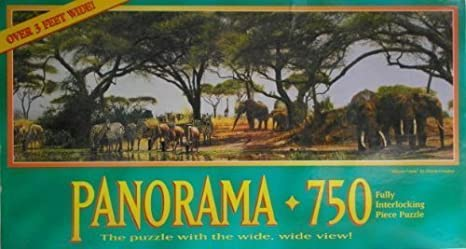 Amazon Com African Oasis Panorama 750 Piece Puzzle By African
