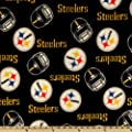 NFL Fleece Pittsburgh Steelers Black Fabric By The Yard