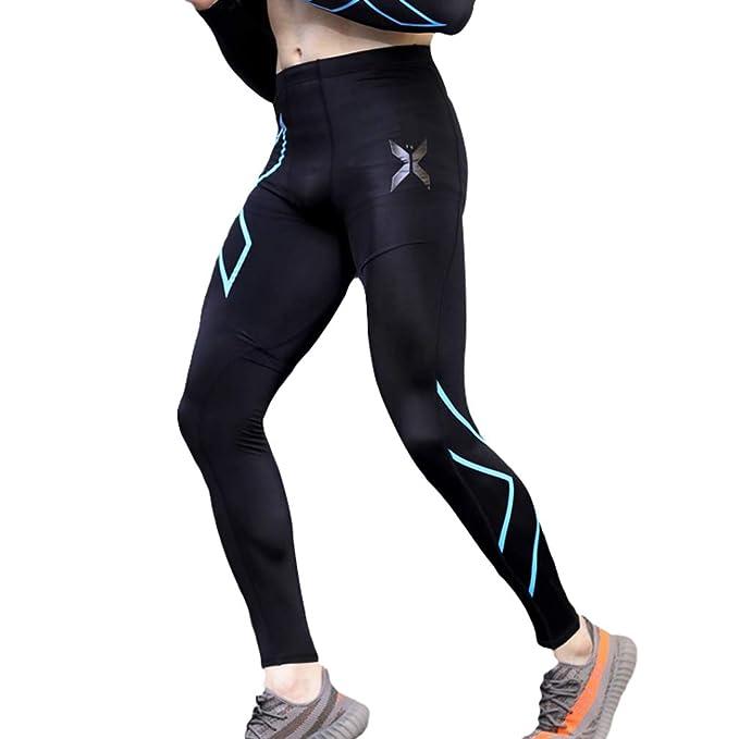 Pantalones Largos de Correr para Hombre Moda Running Pilates Fitness Mallas Deportivas Hombres Secado Rápido Pantalones de Compresión Leggins Deportes ...
