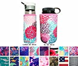Koverz Neoprene 24-30 oz Water Bottle Insulator Cooler Coolie - Petals